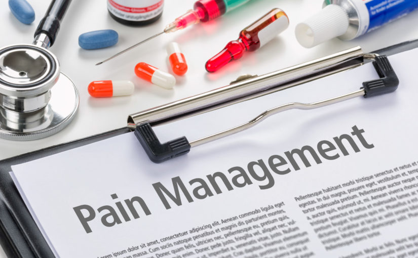 49221988 - pain management written on a clipboard
